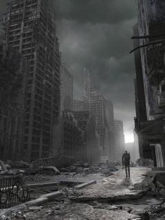 War Dark City Mobile Wallpaper
