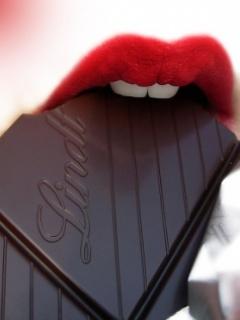 Eat Chocolate Mobile Wallpaper