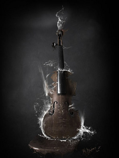 Abstract Guitar Mobile Wallpaper