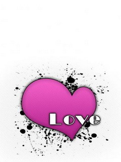 Pink Love Heart Mobile Wallpaper