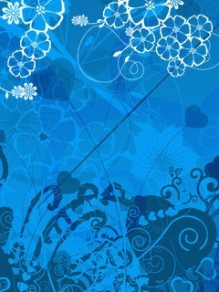 Nice Abstract Blue Mobile Wallpaper