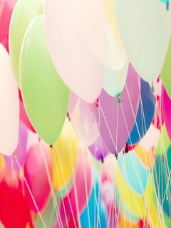 Cute Colors Balloons Mobile Wallpaper