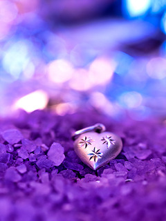 Purple And Heart Mobile Wallpaper