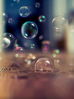 Abstract Bubbles Mobile Wallpaper