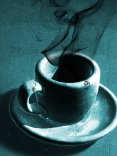 Old Coffee Cup Mobile Wallpaper