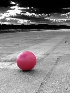 Ball On Road Mobile Wallpaper