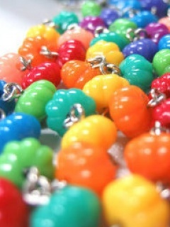 Coloured Beads Mobile Wallpaper