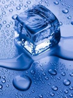 Blue Ice Cube Mobile Wallpaper