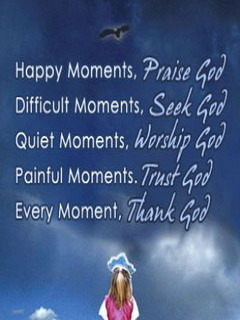 Every Moment Thank God Mobile Wallpaper