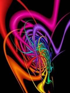 3D Colors Waves Mobile Wallpaper