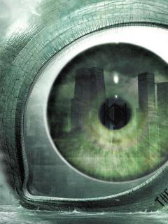 3D Green Eye Mobile Wallpaper
