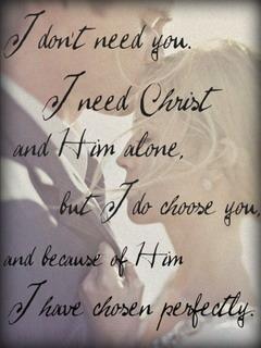 I Need Christ Mobile Wallpaper
