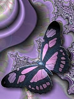 Butterfly Purple Mobile Wallpaper
