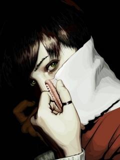 Beauty Hide Face Mobile Wallpaper