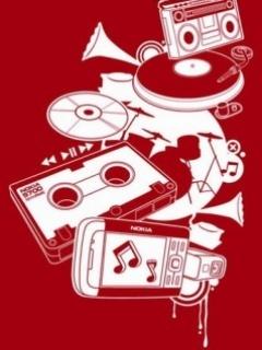 Evolution Of Music Mobile Wallpaper