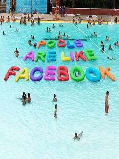 Facebook Pool Mobile Wallpaper