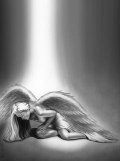 Tired Angel Mobile Wallpaper