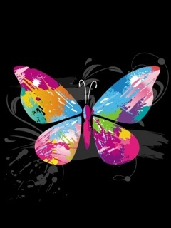 Color Butterfly Mobile Wallpaper
