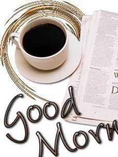 Tea And Newspaper Mobile Wallpaper