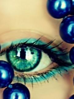 Eye Blue Green Mobile Wallpaper