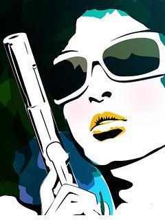 Girl With Gun Mobile Wallpaper