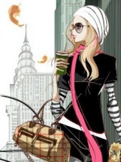 Beauty Fashion Girl Mobile Wallpaper