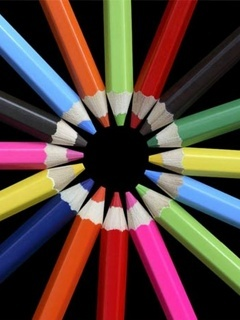 Colors Pencils Mobile Wallpaper