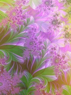 Purple Abstract Flower Mobile Wallpaper