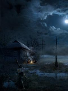 Moon Dark Night Mobile Wallpaper