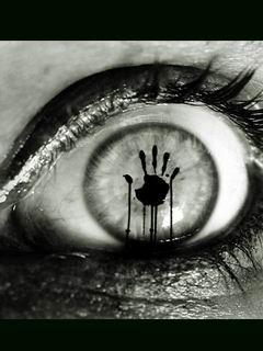 Hand Inside Eye Mobile Wallpaper
