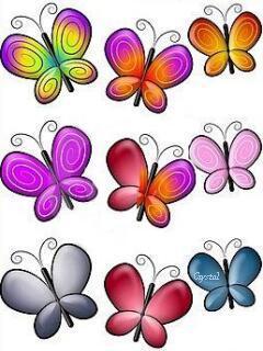 Abstract Butterflies Mobile Wallpaper