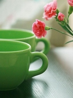 Green Cup Flower Mobile Wallpaper