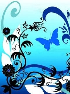 Blue Butterfly Art Mobile Wallpaper