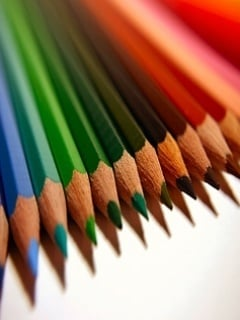 Colors Beauty Pencils Mobile Wallpaper
