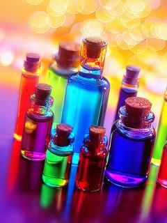 Bottles Of Colors Mobile Wallpaper