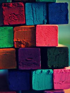 Coloured Blocks Mobile Wallpaper