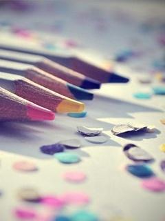 Colors Pencils Mobile Wallpaper