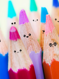 Cute Smile Pencils Mobile Wallpaper