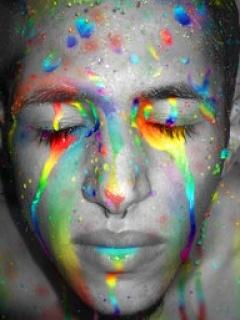 Rainbow Face Mobile Wallpaper