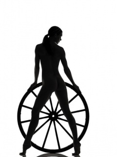 Wheel Dark Girl Mobile Wallpaper