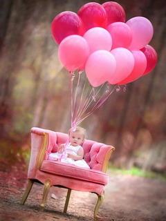 Baby Girl Happy Mobile Wallpaper