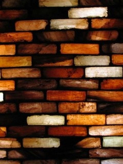 3D Color Bricks Mobile Wallpaper