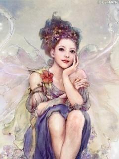Happy Beauty Angel Mobile Wallpaper