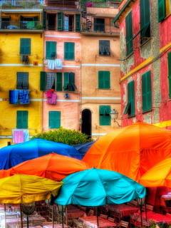 Colors 3D Buildings Mobile Wallpaper