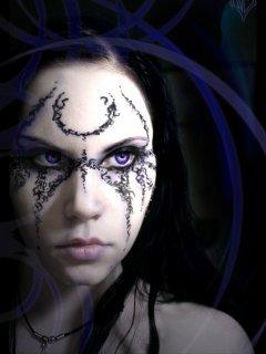 3D Girl Face Mobile Wallpaper