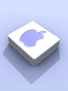 Blue 3D Apple Mobile Wallpaper