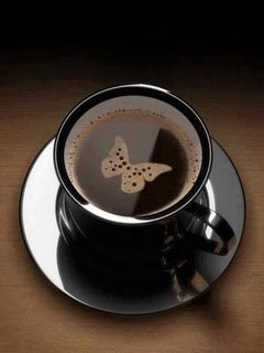 Brown Butterfly Coffee Mobile Wallpaper