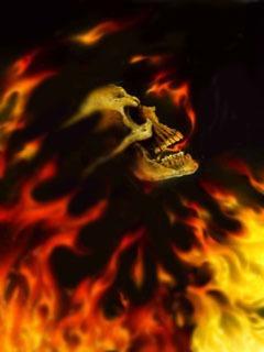 Flame Skull Mobile Wallpaper