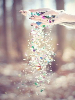 3D Colors Glitter  Mobile Wallpaper