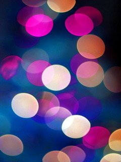 Colors Bokeh Lights  Mobile Wallpaper